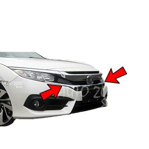 Honda Civic Bonnet Front Grill Chrome 2016-2020