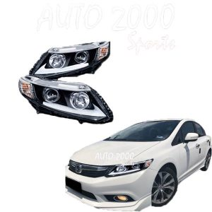 Honda Civic Head Lamp Projection Nike Style Taiwan 2012-2015
