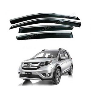 Honda BR-V Air Press / Window Visors Chrome Borders 2017-2020