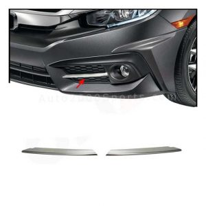 Honda Civic Fog Lamp Trim Chrome 2016-2020