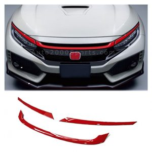 Honda Civic Front Grill Trim Red 2016-2021