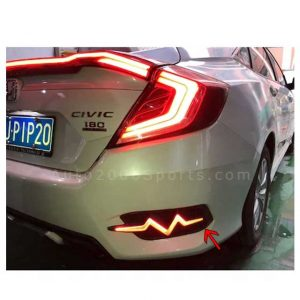 Honda Civic Rear Bumper Reflector Zig Zag 2016-2020
