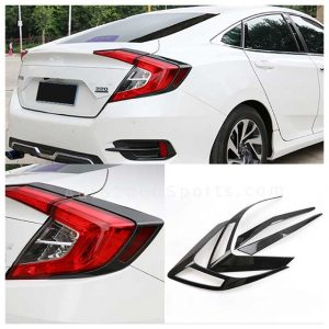 Honda Civic Rear Lamp Cover Trim Carbon 2016-2020