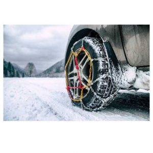 Pair of Snow Chains with Tensioner