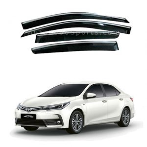 Toyota Corolla Air Press Window Visors Chrome Border 2014-2021