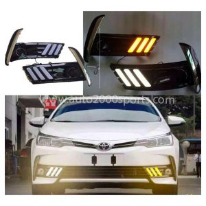 Toyota Corolla DRL Mustang Style Black 2017-2019