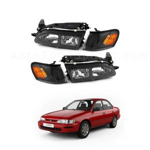 Toyota Corolla Headlamps Headlights 1994 1995 1996 1997 1998 1999 2000 2001 (1)