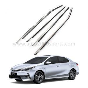 Toyota Corolla Weather Strips Chrome Model 2014-2021