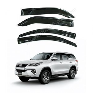 Toyota Fortuner Air Press Window Visors Black Model 2017-2020