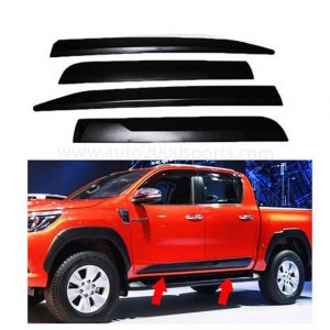 Toyota Hilux Revo Door Moulding Matt Black 2016-2020