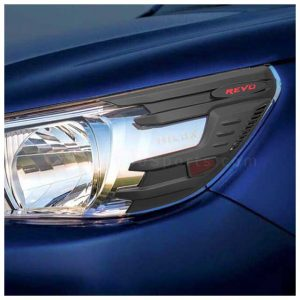 Toyota Hilux Revo Head Lamps Cover Half Black Model 2016-2020