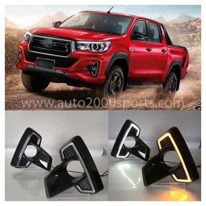 Toyota Hilux Rocco Front Bumper LED DRL 2016-2020