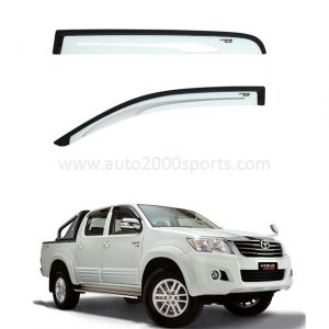 Toyota Hilux Vigo Air Press Window Visors White 2005-2016