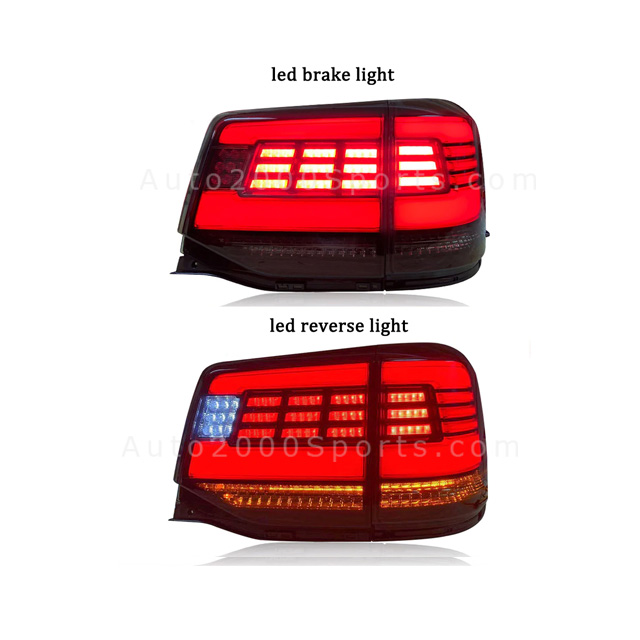 Toyota Land Cruiser FJ200 Rear Lamps Matrix Design Smoked 2008-2020