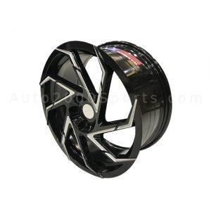"New Style Alloy Rims Alloy Wheels Black Miling 18"""